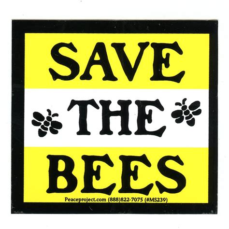Save The Bee ms238 save the bees mini sticker