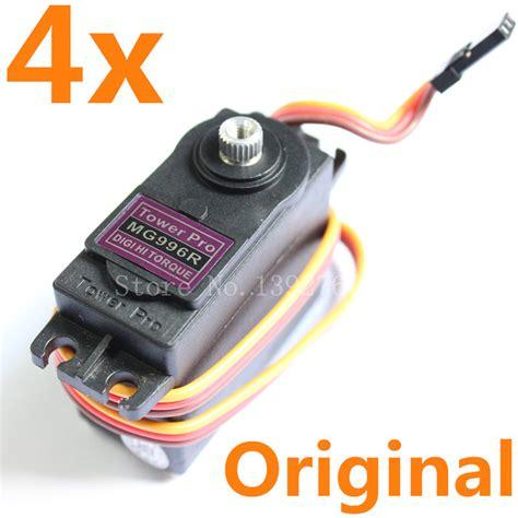 Tower Pro Servo Mg996r 360 Derajat aliexpress buy 4pcs original towerpro mg996r servo motor digital high torque metal gear