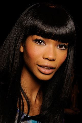7 Hair Looks by Top 7 Hair Looks By Chanel Iman Charcoal Ink