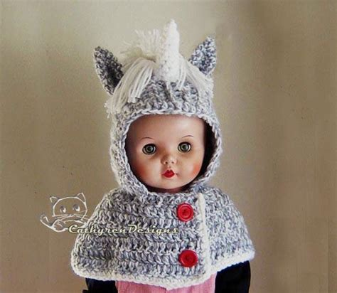 unicorn cowl pattern hooded unicorn cowl capelet by cathyrendesigns craftsy