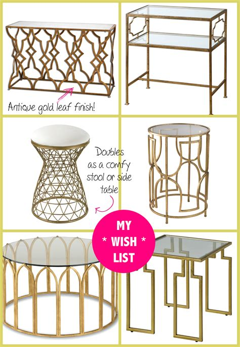 shopping my new gold mirrored table from build