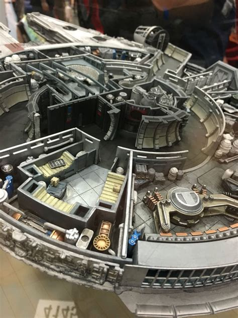 interior layout of millennium falcon qmx millennium falcon cutaway replica sci fi design