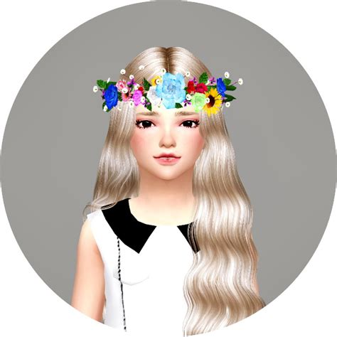 child flower crown  marigold sims  updates