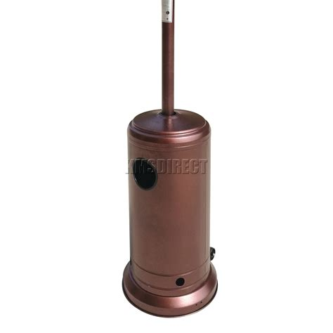 all pro patio heater bronze powder coated hammered metal steel outdoor garden