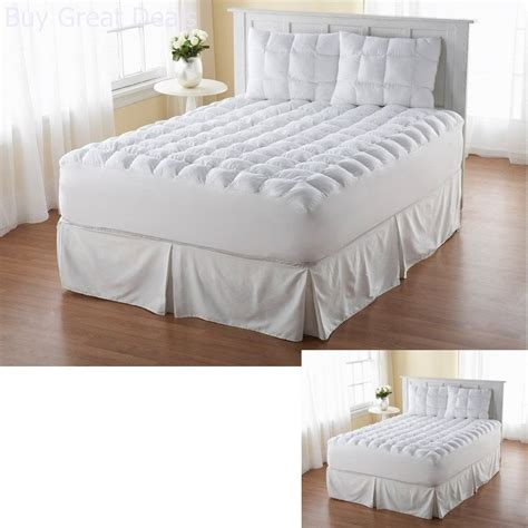 pillow toppers for beds pillow top mattress matress topper king size down sub cotton bed luxury pad new ebay