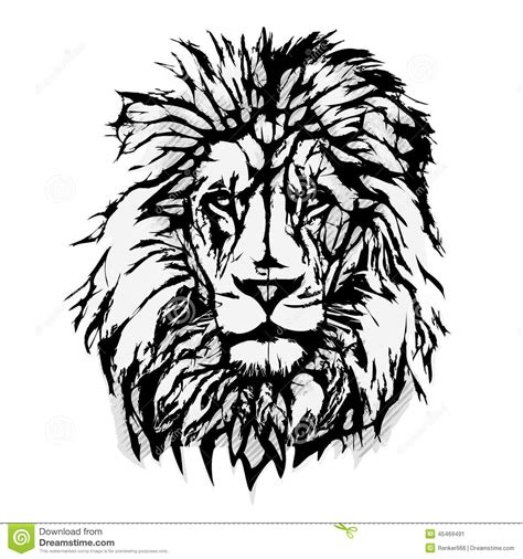 lion head graphic stock vector image 45469491