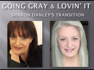 how to transition to gray hair from dyed going gray lovin it sharon danley s transition youtube