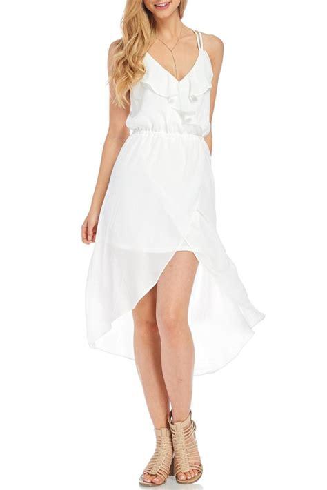 Spaghetti Dress White hyfve white spaghetti dress from nebraska by apricot