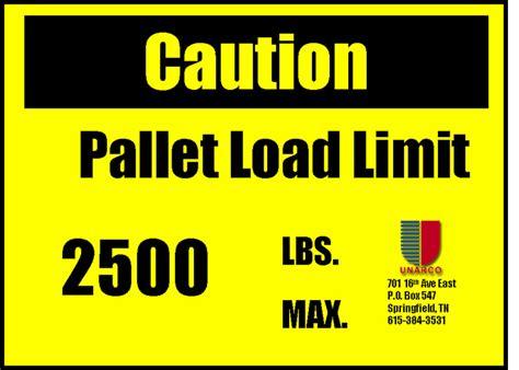 warehouse load plaques for rmi compliance