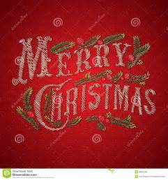 embroidered merry card royalty free stock photo image 35691285
