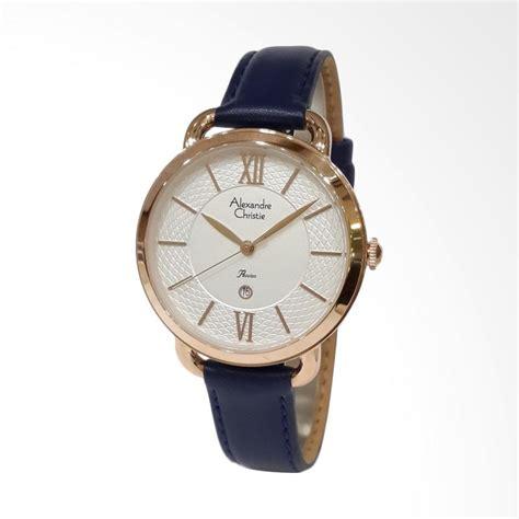 Jam Tangan Wanita Esprit Kulit Biru jual alexandre christie 2674ldlrgslbu kulit set jam tangan wanita biru gold