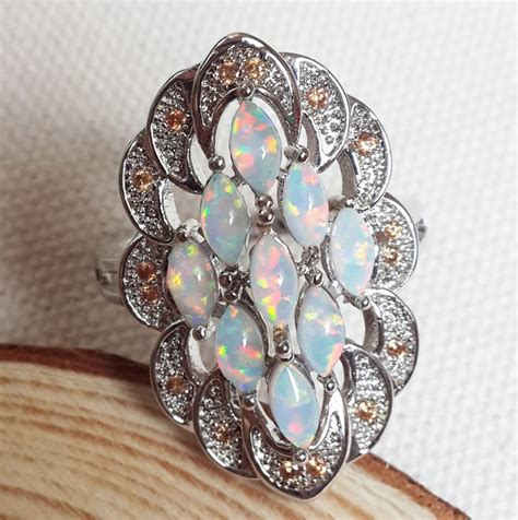 graceful white opal rings for cheap opal ring