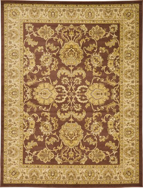 Traditional Area Rug Classic Rug Brown Traditional Rugs Area Rug New Floor Carpet