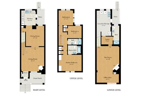 terraced house floor plan floor plan row house house design plans