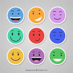 colorful emojis colorful emoticons set vector free