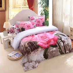 Twin Size Comforter Sets For Kids 3d Pink Rose Bedding Set Ebeddingsets