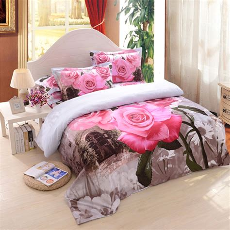 3d comforter set 3d pink rose bedding set ebeddingsets
