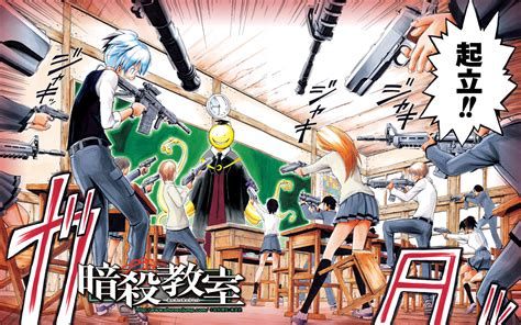 wallpaper anime assassination classroom stand bow computer wallpapers desktop backgrounds