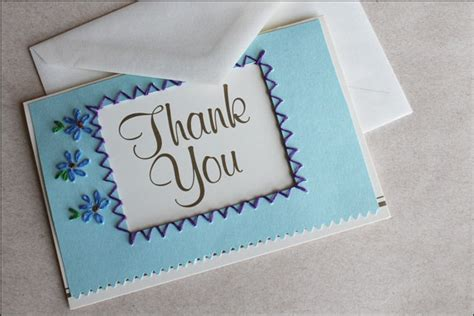 Ideas For Handmade Thank You Cards - recent card embroidered thank you cards diy