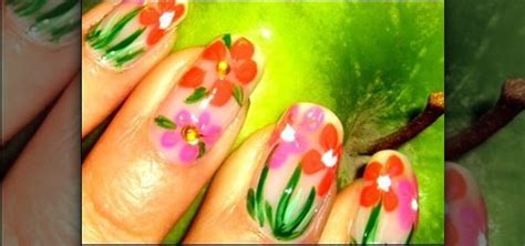 spring paint how to paint pretty spring flowers on your nails 171 nails