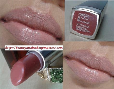 Maybelline Color Sensational Lip Tint Moisturizing Glossy Lipstick 1 maybelline color sensational lipstick my mahogany review