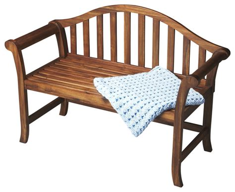 windsor style bench windsor style cinnamon wood bench contemporary accent