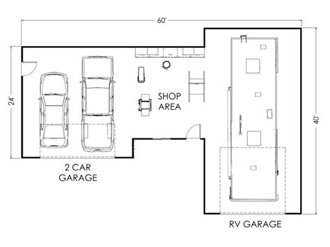 workshop floor plan specialty garage true built home