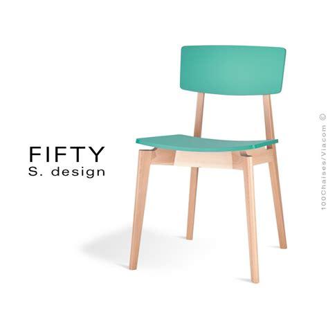 Chaise Couleur by Chaise En Bois Fifty Structure Aspect Naturel Assise Et