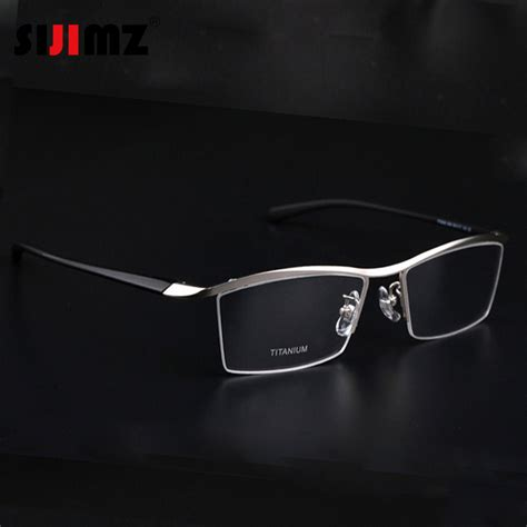 2016 fashion titanium rimless eyeglasses frame brand