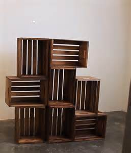 Bookshelves Made From Crates Crate Shelves 25 Diys Guide Patterns
