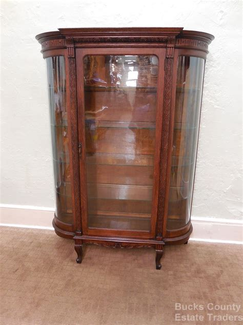 what is a curio cabinet antique oak bowed glass china curio cabinet