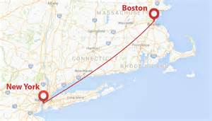 Map From New York To Boston by Private Jet From New York To Boston Privatefly