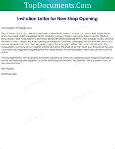 Opening A Business Letter by New Shop Inauguration Invitation Letter Top Docx