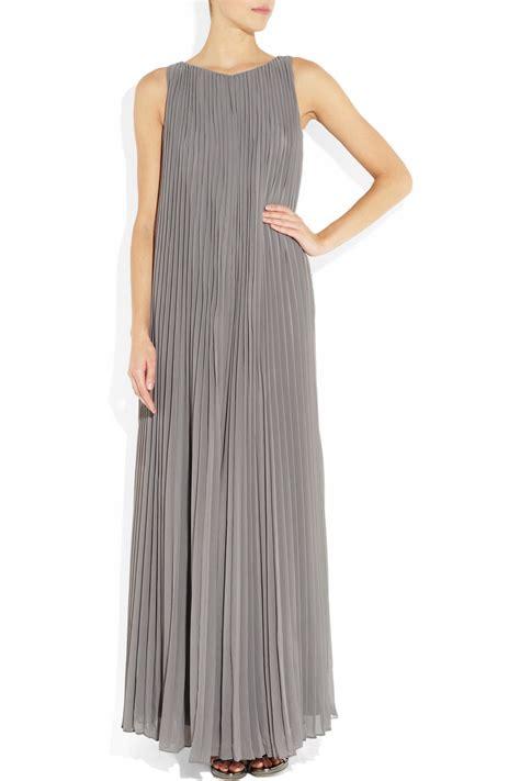 Grey Pleated 2pcs Dress pleated chiffon maxi dress in gray lyst
