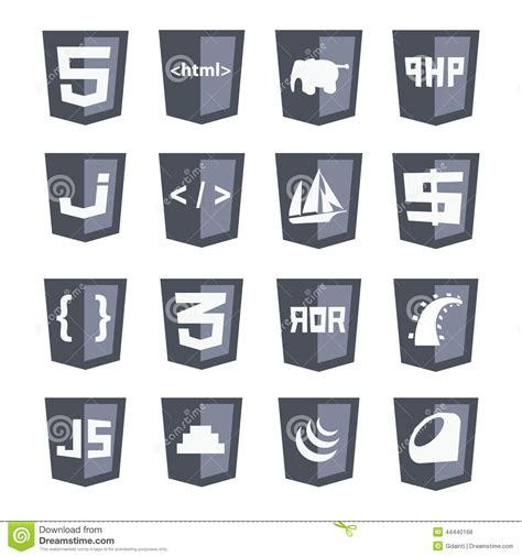 svg pattern html5 vector web shields icon set grey variant html5 css3