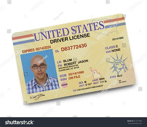 Search Drivers License Us Driver License Isolated On White Background Stock Photo 213777280