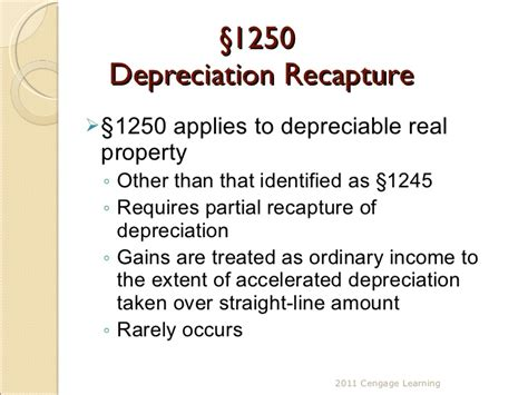 Section 1250 Depreciation Recapture by Chapter 8