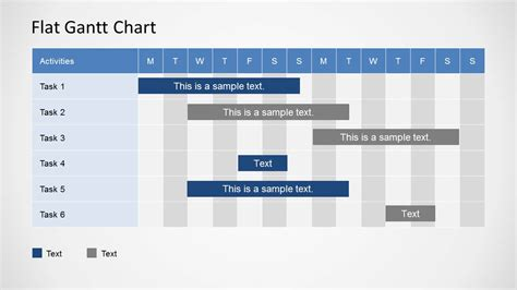 easy gantt chart template simple gantt chart powerpoint template slidemodel