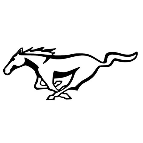 running mustang logo ford mustang running decal