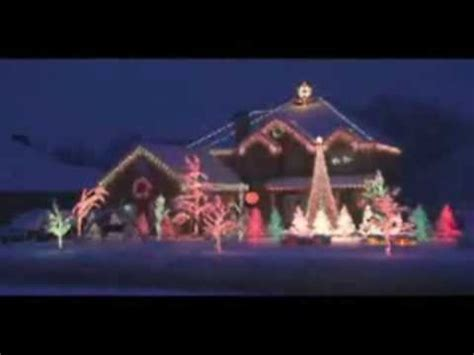 christmas light show amazing grace techno youtube