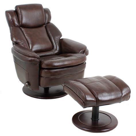 leather recliner chair ottoman barcalounger eclipse ii recliner chair and ottoman