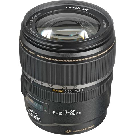 Lensa Canon 17 85 Is Usm canon ef s 17 85mm f 4 5 6 is usm lens 9517a002 b h photo
