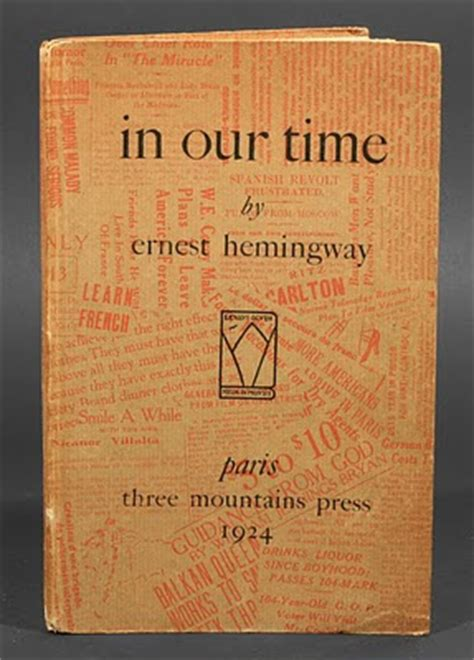 In Our Time Stories with mccabe 1a 1b ernest hemingway 1899 1961