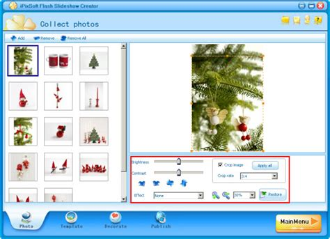 flash template presentation make a ornaments photo presentation with hyperlink