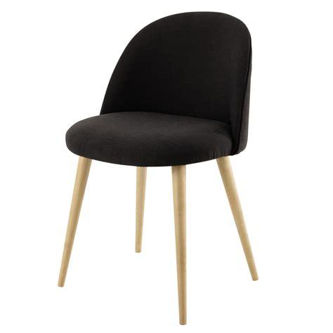 chaise vintage maison du monde chaise vintage en tissu anthracite mauricette maisons du