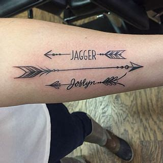 tattoo designs with names in them arrow tattoos with names search ink
