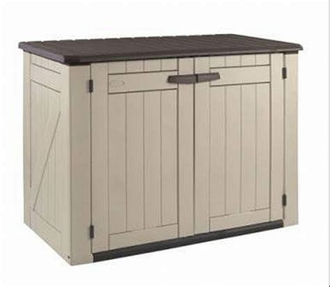 patio storage shed keter lockable garden patio storage shed 3 yr warranty ebay