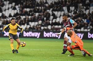 alexis sanchez west ham west ham 1 5 arsenal alexis sanchez nets 14 minute hat