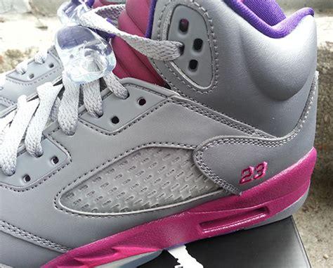 Schuhe Big Air 5 Gs Cement Flash Pueple Grau Kinder Rosa Ordnungsgemã ã Er Service P 193 air v gs quot cement grey quot air jordans release