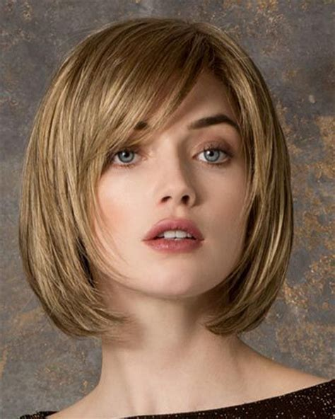 chin length fine thin round face 60 yr hairstyle one length bob 5 short hairstyles 2018